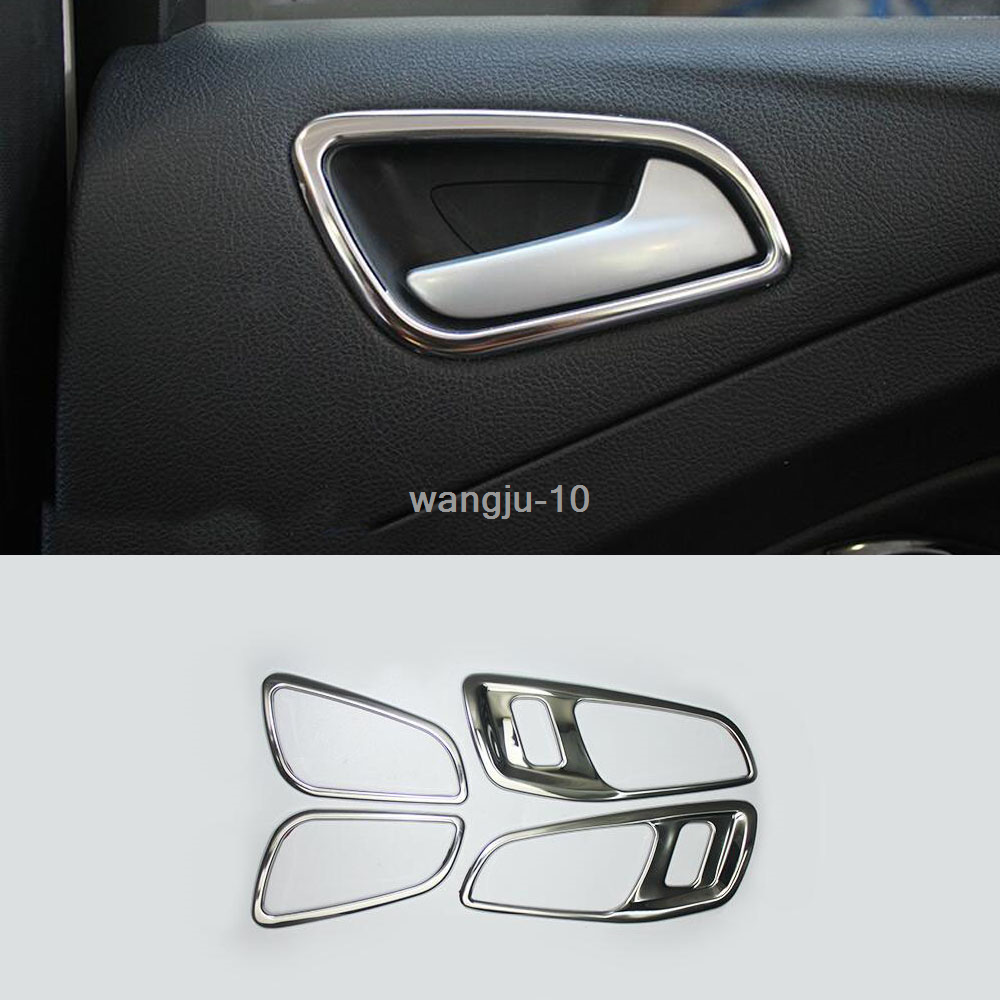 Stainless head light switch button cover trim for Ford Escape Kuga 2013-2017
