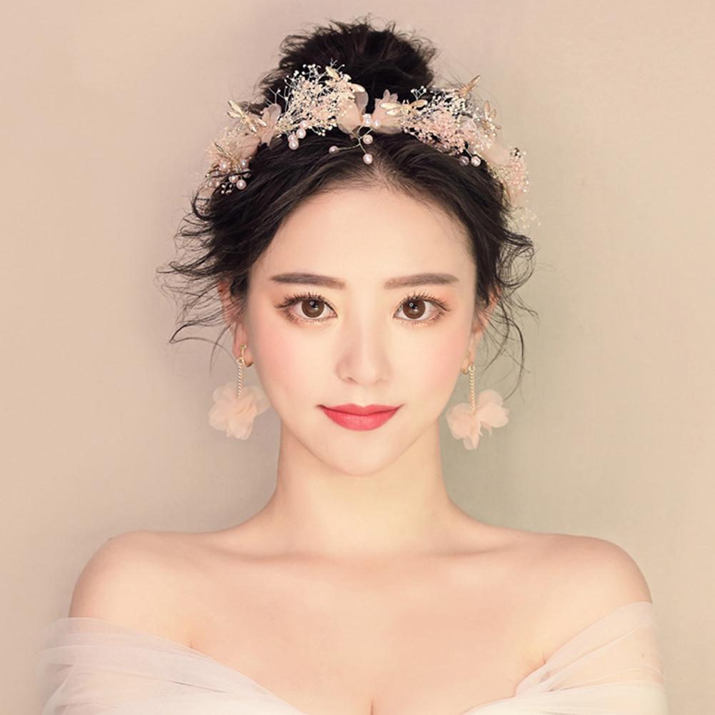 Gorgeous flower crown headband hair garland wedding party hairband gorgeous flower crown headband hair garland wedding party hairband earrings izmirmasajfo