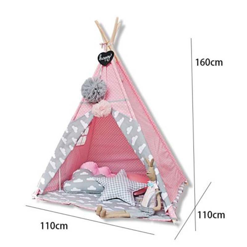 rosa tipi spielzelt indianer kinder zelt spielhaus teepee babyzelt indianerzelt ebay. Black Bedroom Furniture Sets. Home Design Ideas