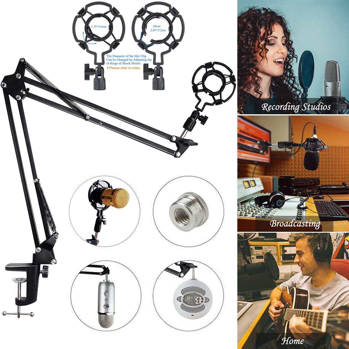 Profi-Tischstativ Mikrofonständer Microfon Halterung verstellbar pour Schwarz tw