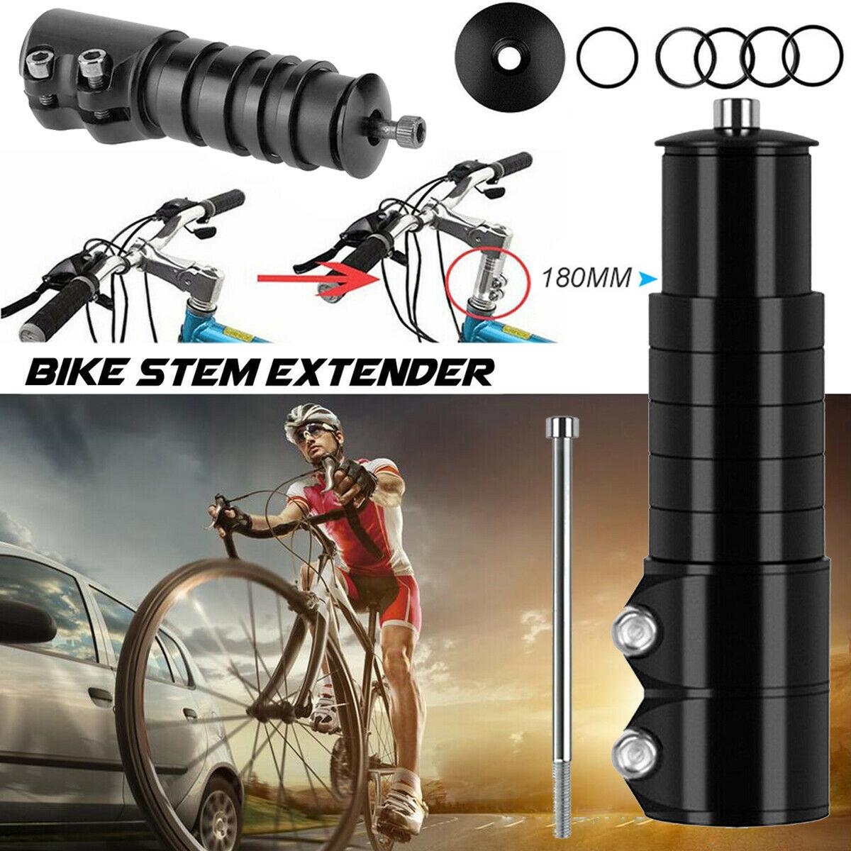 Bike Stem Extender Dual Bicycle Handlebar Stem Neck Riser Extender Head Up