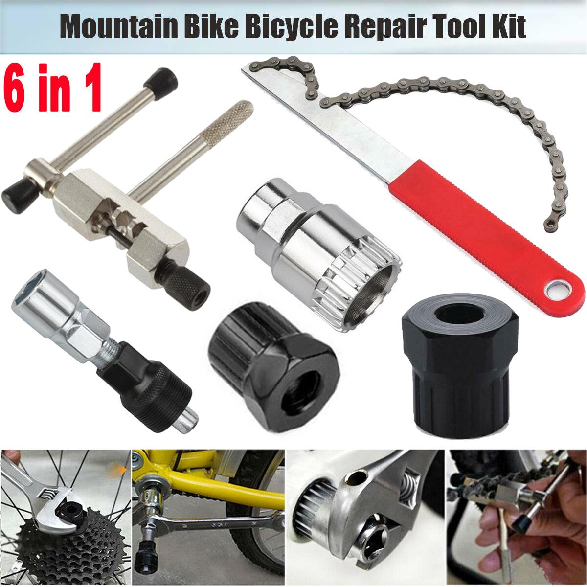 MTB Bike Cassette Rotating Freewheel Flywheel Lockring Removers Chain Whip Tool