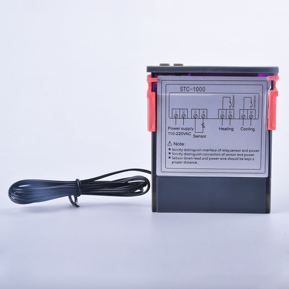 Universal Stc 1000 Digital Temperature Controller Sensor Thermostat How To Wire Switch New