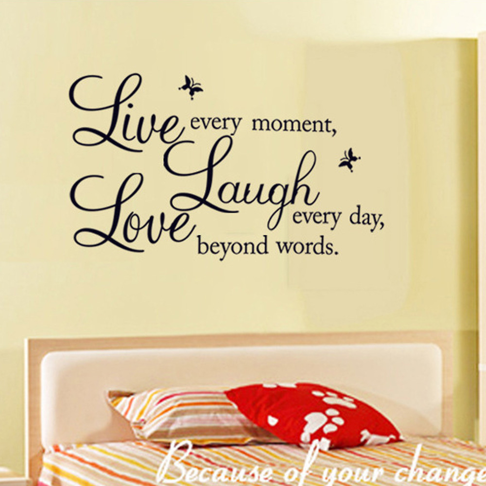 Removable Live Laugh Love Letter Decal Vinyl DIY Art Wall Stickers ...