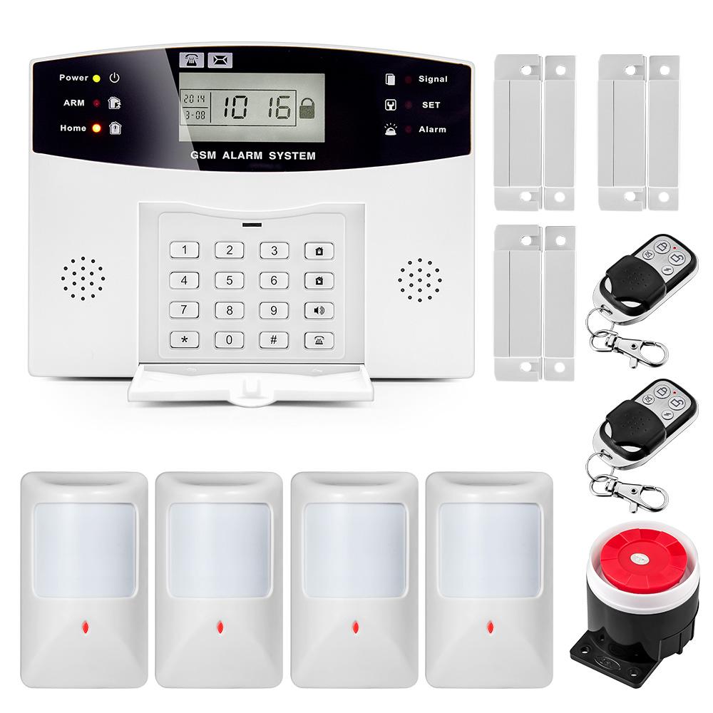 HOMSECUR Wireless/&wired LCD GSM SMS Autodial Burglar Intruder Alarm System