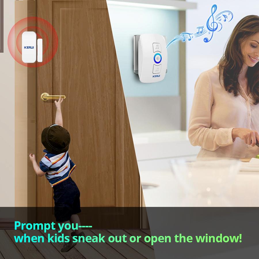 KERUI Door Magnetic Safety Emergency Alarm System Smart Home Security Locator