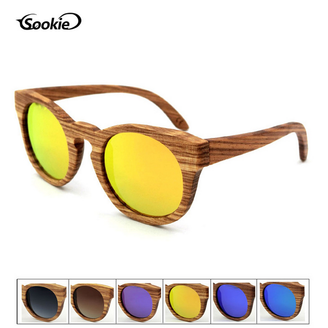 1394893ac Details about SOOKIE Handmade Unisex Zebra Wooden Sunglasses Polarized Retro  Wood Eyewear