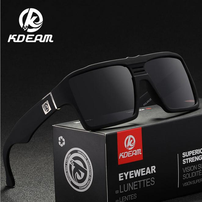 KDEAM Men/'s Polarized Sport Sunglasses Outdoor Driving Fishing Square Glasses