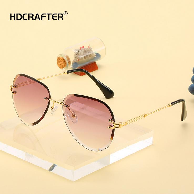 Women Retro Rimless Square Sunglasses UV400 Outdoor Party Fashion Glasses New