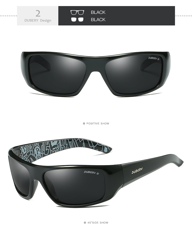 8f4d057a37 Details about DUBERY Men Sport Polarized Sunglasses Fashion Driving Black  Lenses Glasses New