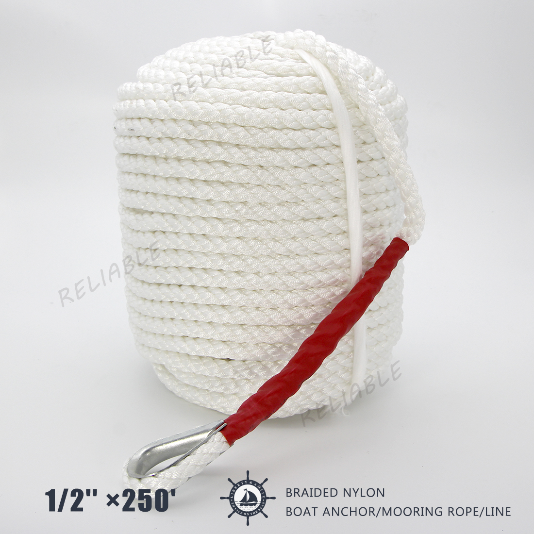 1//2/'/' ×250/' Twisted Three Strand dock cord boat rope Anchor//Mooring US STOCK