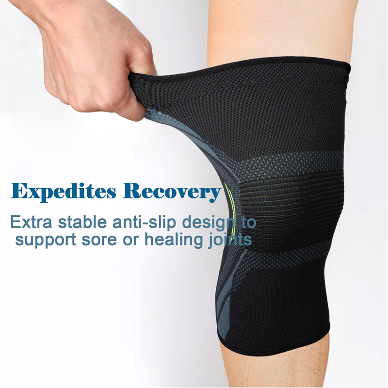 734110f09e Details about 2x Knee Sleeve Compression Brace Support For Sport Joint  Arthritis Pain Relief
