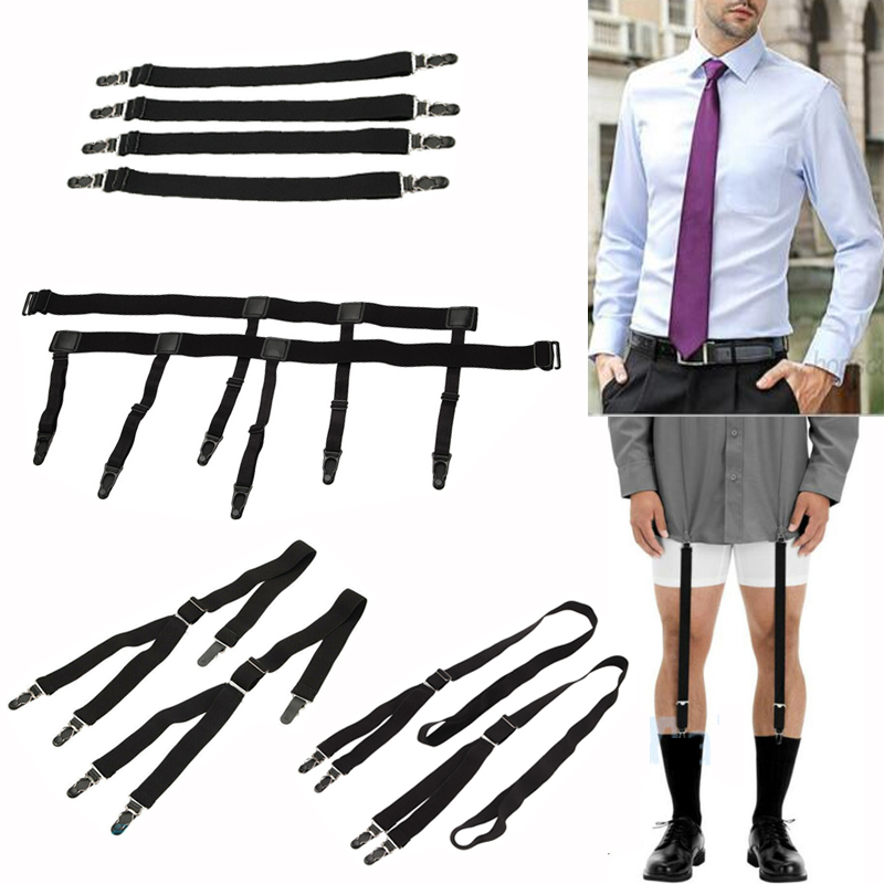 New Metal Stainless Formal Dress Shirt Collar Stays Bar w// Magnets In Box