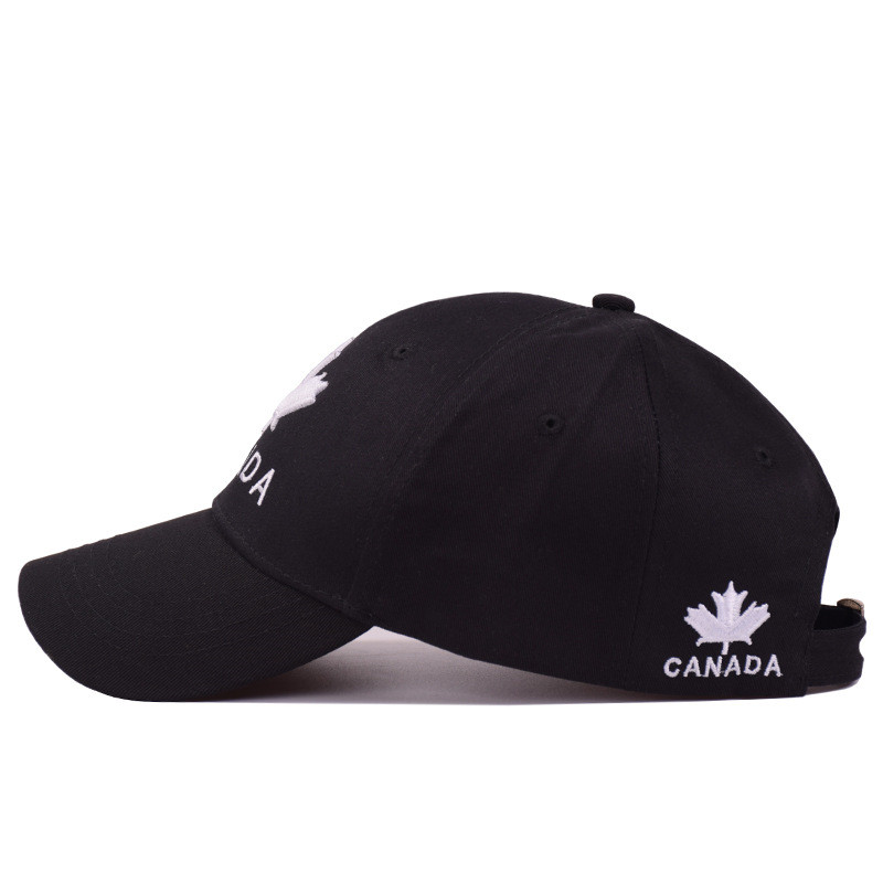 b3f1bcdfcc7 CANADA Maple Leaf Embroidery Dad Hat Cotton Trucker Hip-hop Unisex Baseball  Cap