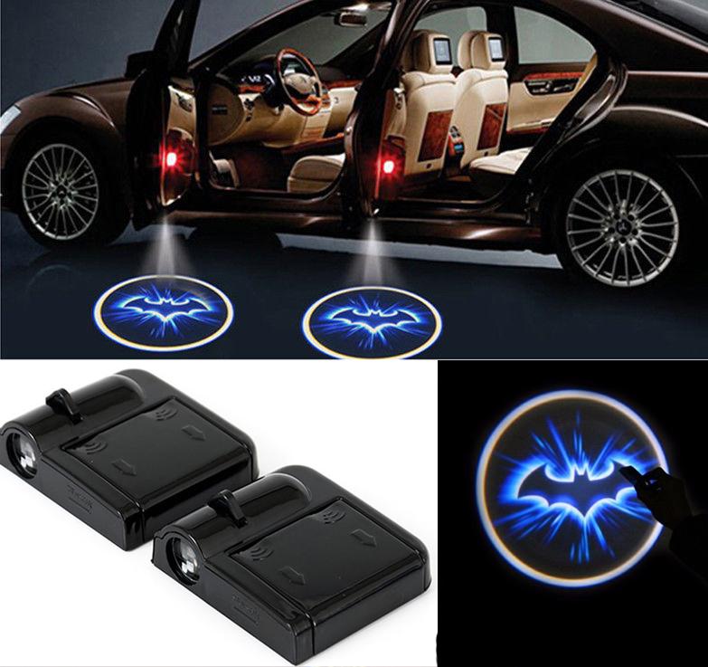 2x Car LED Door Welcome Projector Logo Batman Ghost Shadow Light Lamp