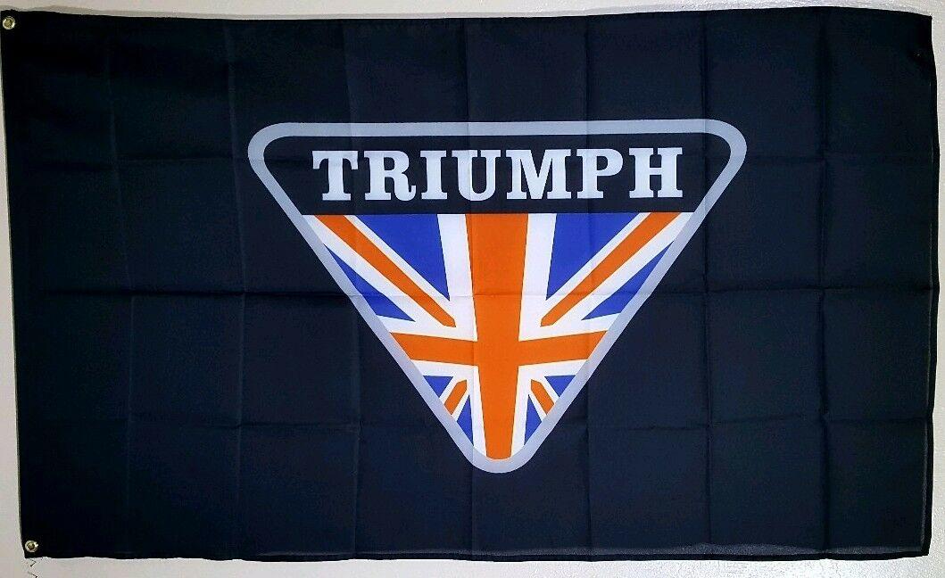 Triumph Banner 3x5 Ft Flag Garage Wall Bike Week Motorcycles Decor Advertising
