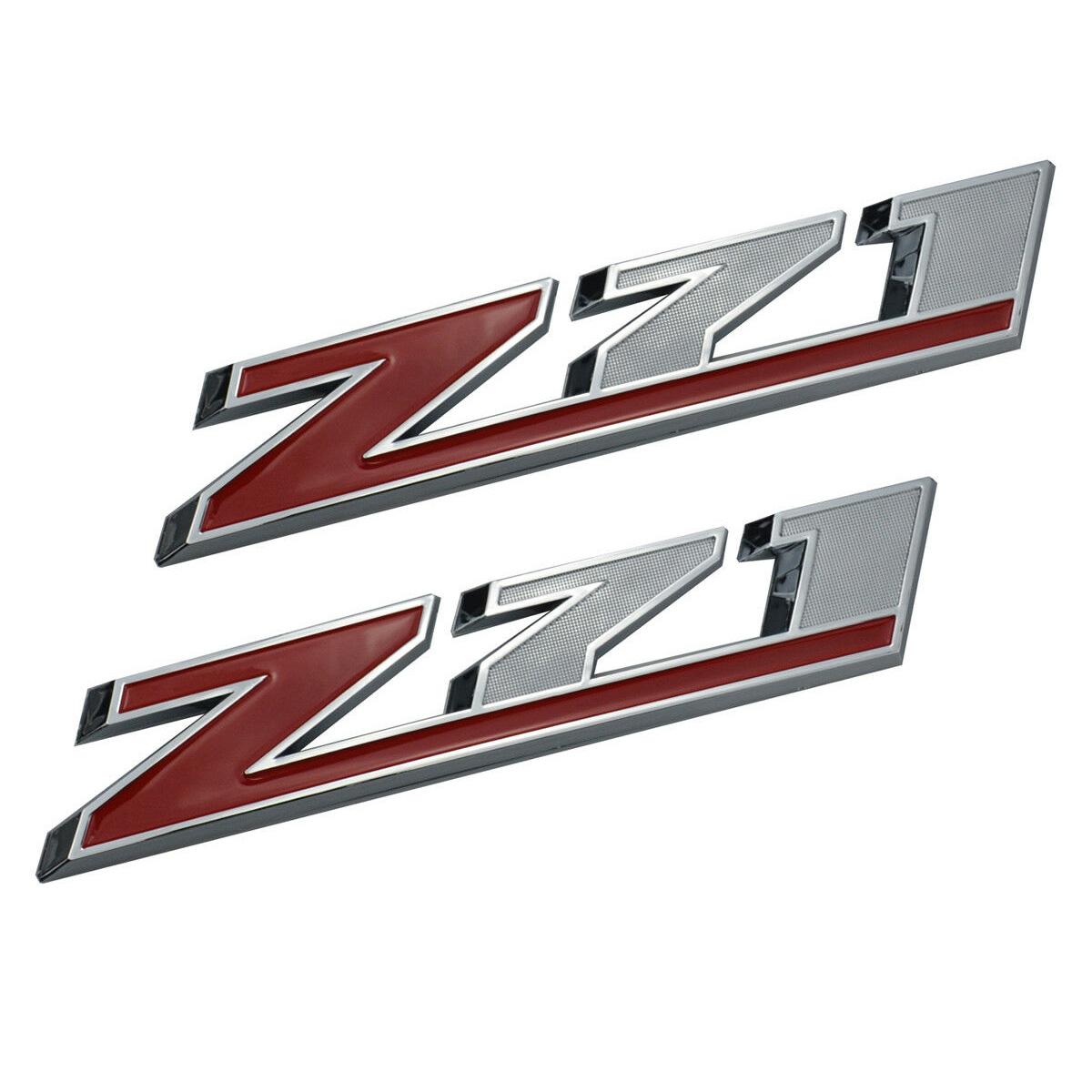 """3x OEM 10/"""" Big Z71 OFF ROAD Emblems for GM Silverado Sierra Truck Y Chrome black"""