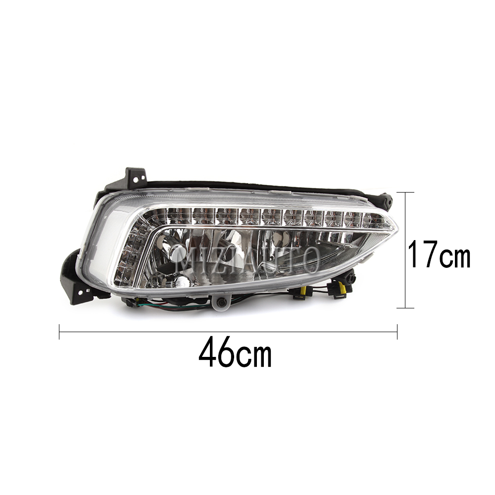 2pcs LED DRL Daytime Running Light Fog Lamp For Hyundai IX45 Santa Fe 2013-15
