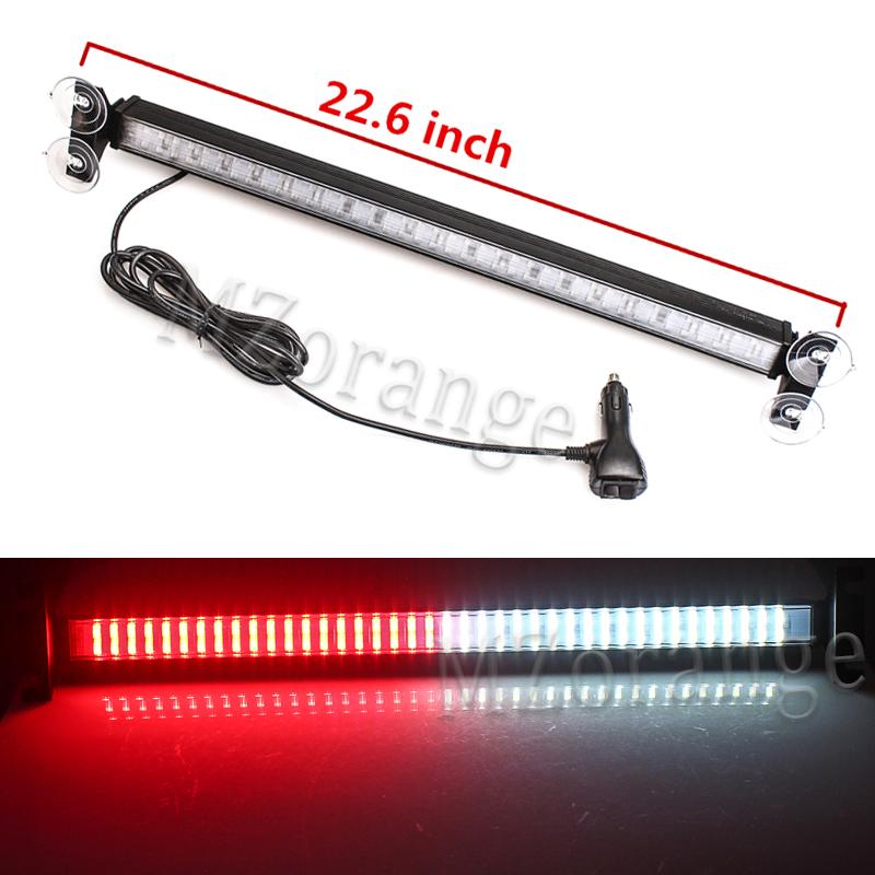 80 LED Car Strobe Moving Warning Light Bar Flash Signal Emergency RedBlue