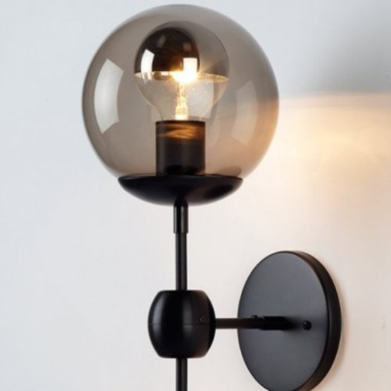 Vintage Bubble Wall Lamp Sconce Globe Double Glass Ball ...