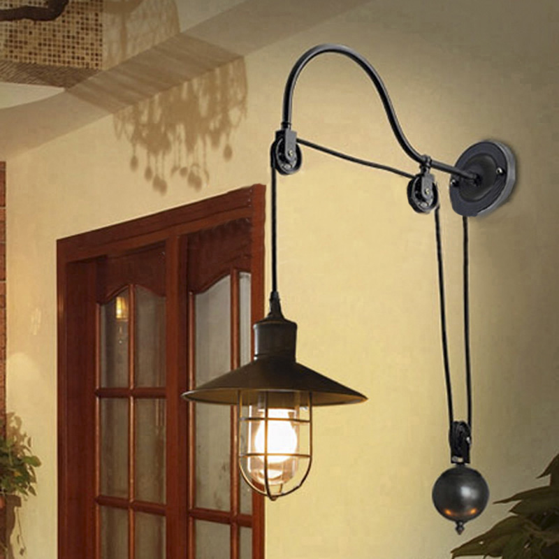 Industrial Gooseneck Wall Sconce Lamp Light Fixture Adjustable ...