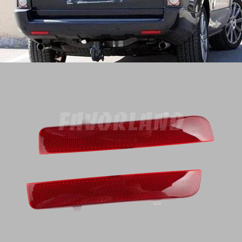 For LAND ROVER LR2 Range Rover 2003-2012 REAR BUMPER REFLECTOR RED LENS L+R SET