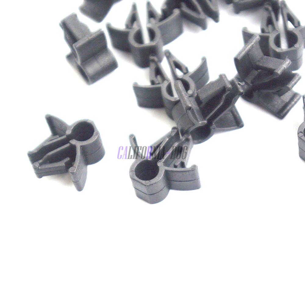 10x Wire Cable Loom Routing Harness Clip Retainer 90654sa4003 6mm Wiring Symbols 10pcs 90654 Sa4 003 For Honda