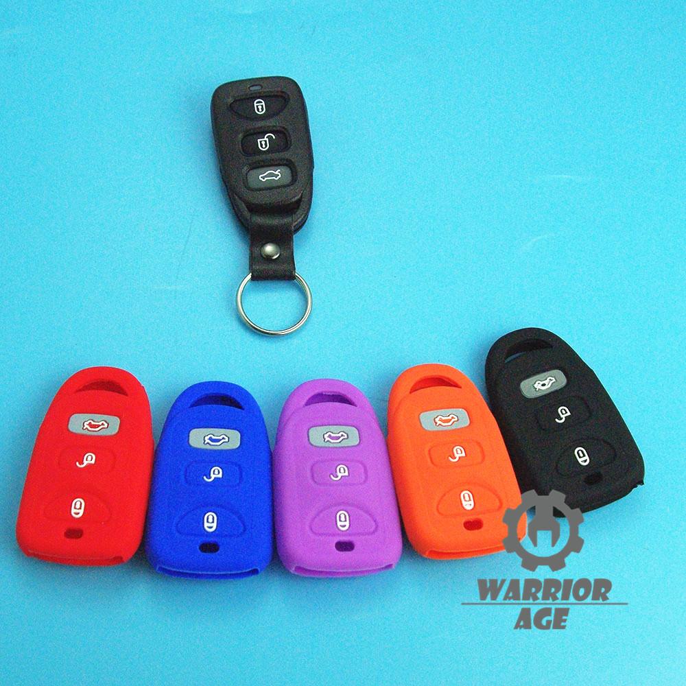 Silicone Remote Key Skin Fob Case Cover 3 Button For ...
