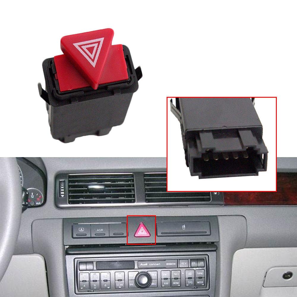 Hazard Warning Light Flasher Switch Emergency 4B0941509D For AUDI A6 A6 Quattro