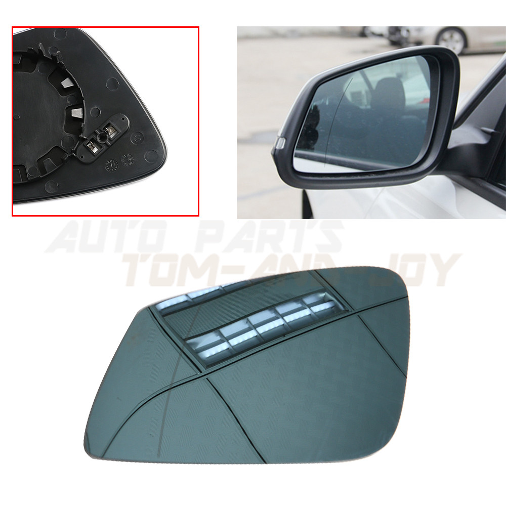 Front Door Side Mirror Glass Heated Base for BMW 5//6//7 Series Sedan Left+Right