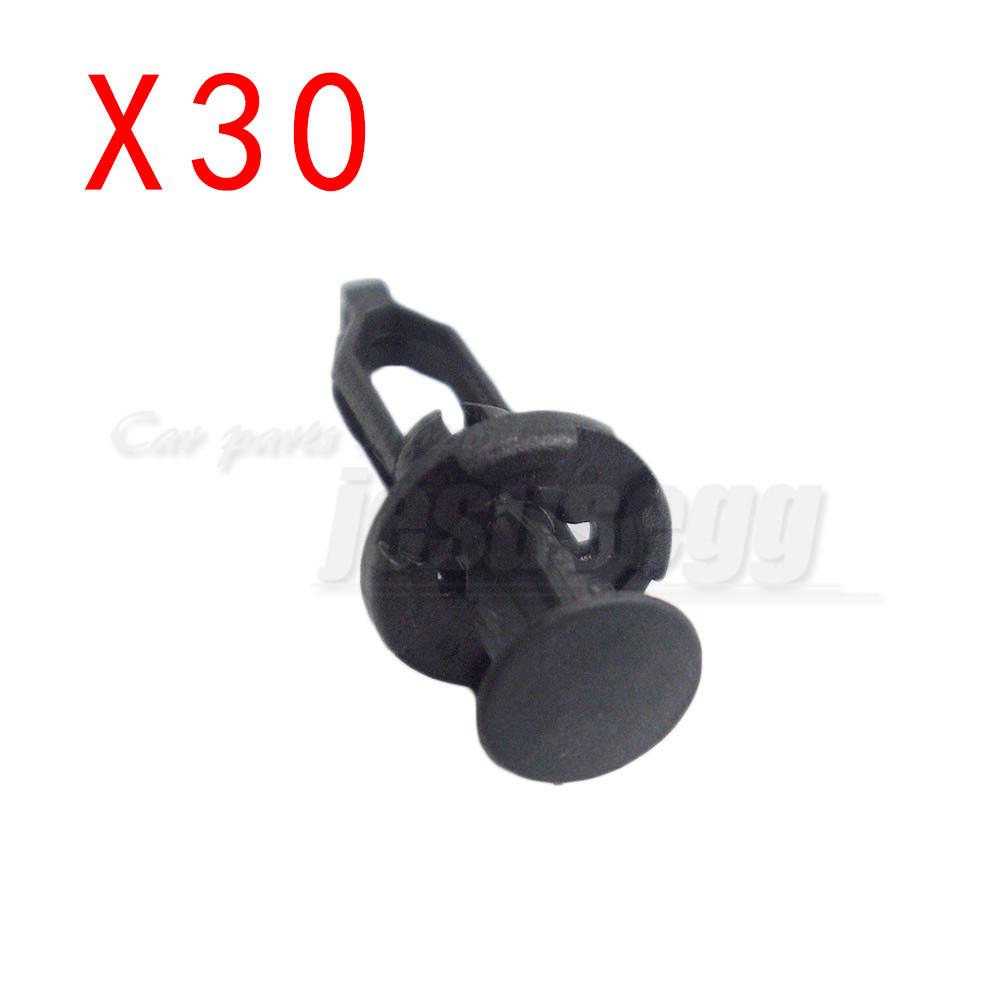 30 Rear Bumper Cover Clip Nylon Retainer A18873 For Toyota For Lexus 52161-16010