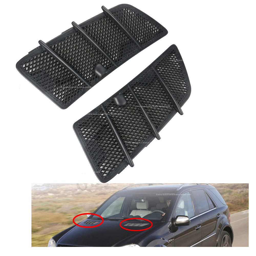 Front Right Left Hood Air Vent Grill Cover For Mercedes W164 ML350 ML550 08-11