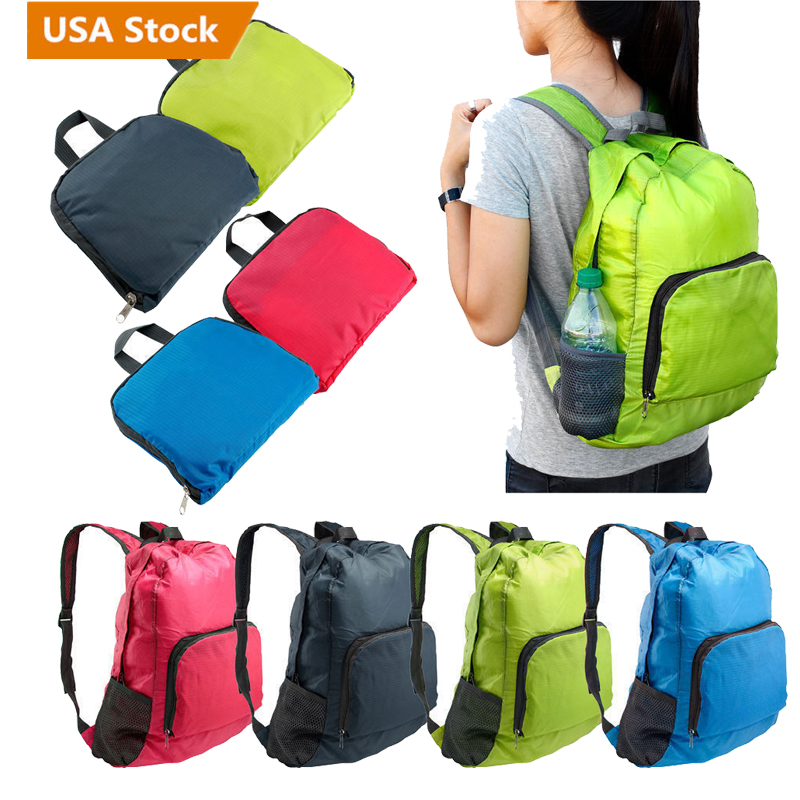 Details About Portable Foldable Lightweight Travel Backpack Daypack Bag Sports Camping Hiking