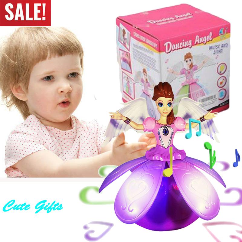 Dancing Doll Flashing LED Light Princess Toys Gifts 2 3 4 5 6 7 8 9year Kids Toy