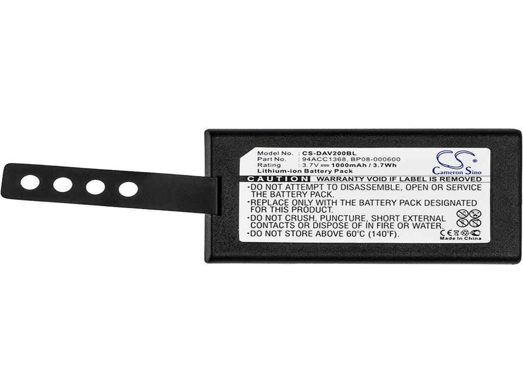 94ACC0083 1000mAh Battery For Datalogic 11300794 3.70Wh 3H21-00000370