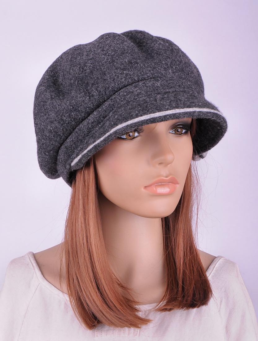 c241d55f81 M389 Gray Cute 2-Tone Flower Warm Wool Women's Winter Hat Newsboy ...
