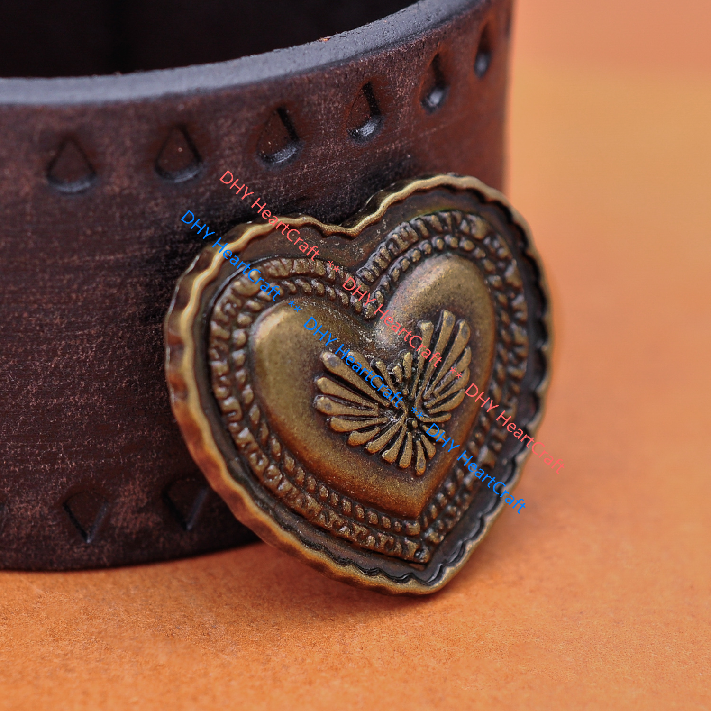 Skull Leathercraft Wallet Belt Handbag Conchos 34mm 10X Antique Silver Roman NO