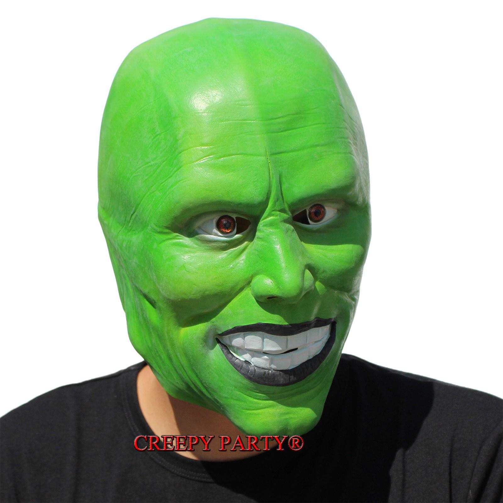 39 the mask 39 green latex mask jim carrey costume fancy dress halloween film loki 602638113741 ebay - Masque halloween film ...