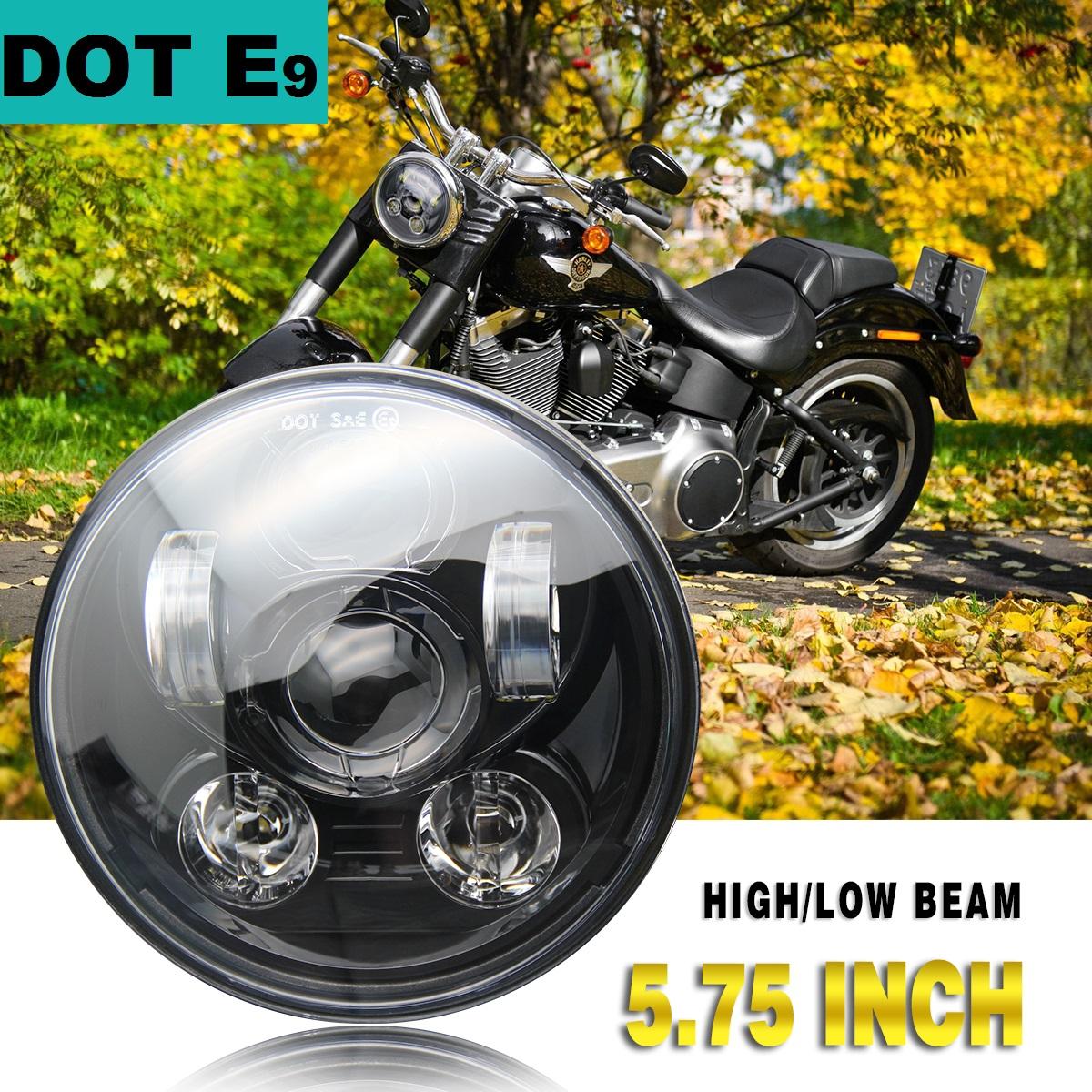 DOT 5-3//4/'/' 5.75/'/'inch LED Sealed Beam Projector Headlight For Dyna Headlamp