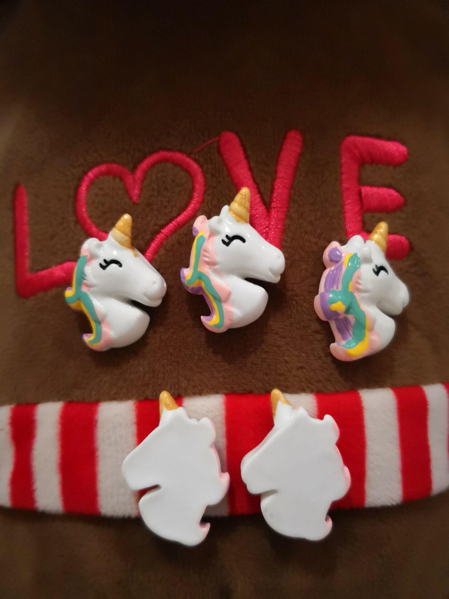 5 10pcs Lovely Unicorn Resin Flatbacks Craft Cardmaking Embellishments DJS-A0000