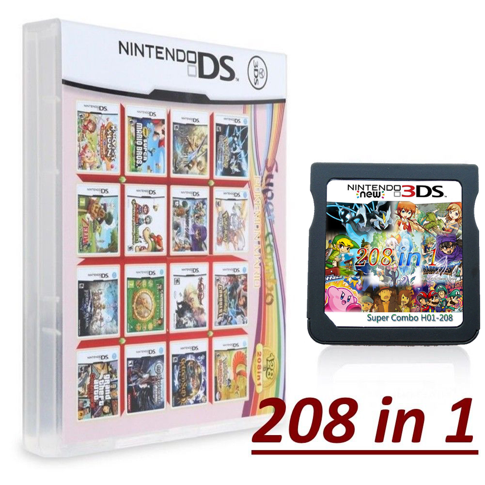Super Nintendo NDS 208 IN 1 Cartridge Console US English DS DSL DSI 3DS 2DS  XL | eBay