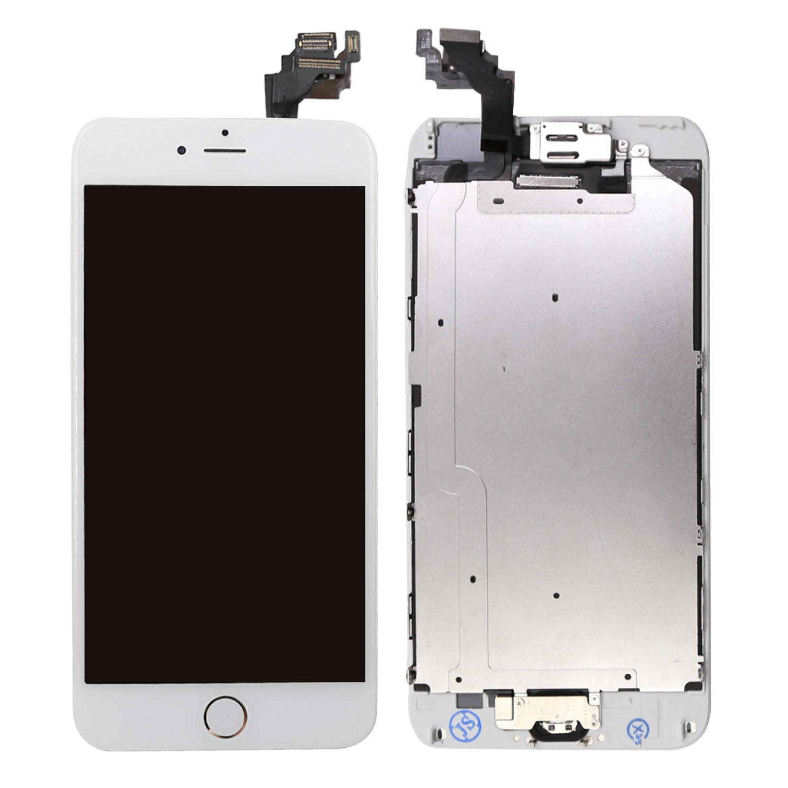 for iphone 6 plus digitizer complete screen replacement lcd touch home button ebay. Black Bedroom Furniture Sets. Home Design Ideas