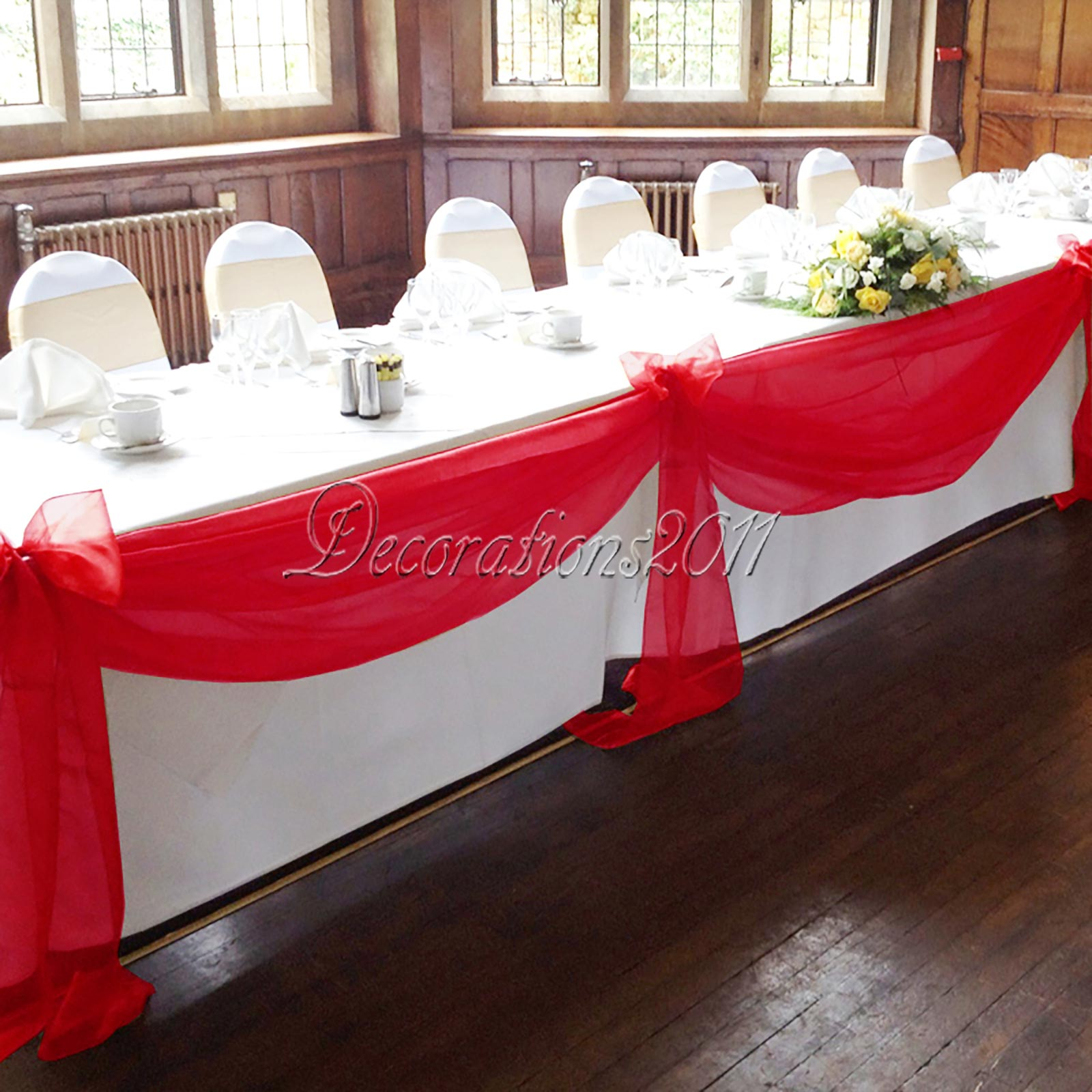 Best Diy Wedding: 5M*1.35M Top Table Swags Sheer Organza Fabric DIY Wedding