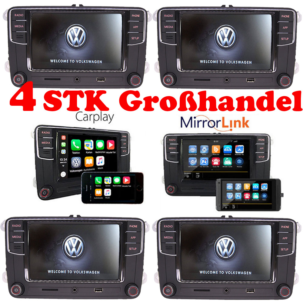 gro handel 4stk vw autoradio mib2 rcd330 carplay. Black Bedroom Furniture Sets. Home Design Ideas