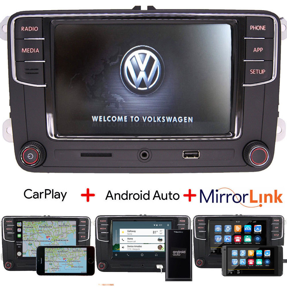rcd330 autoradio carplay android auto bluetooth rvc aux vw. Black Bedroom Furniture Sets. Home Design Ideas
