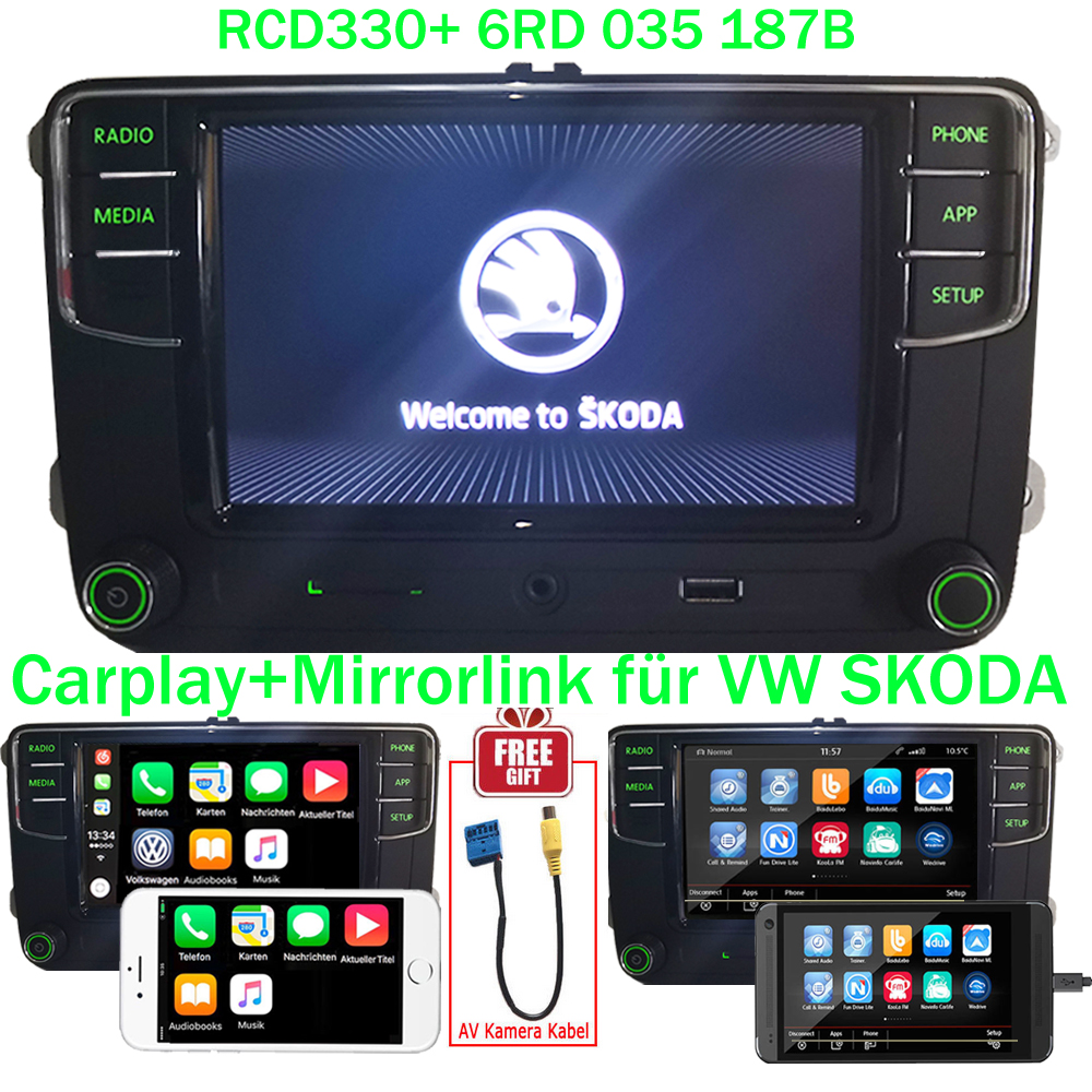 vw skoda 6 5 autoradio mib2 rcd330 carplay mirrorlink. Black Bedroom Furniture Sets. Home Design Ideas