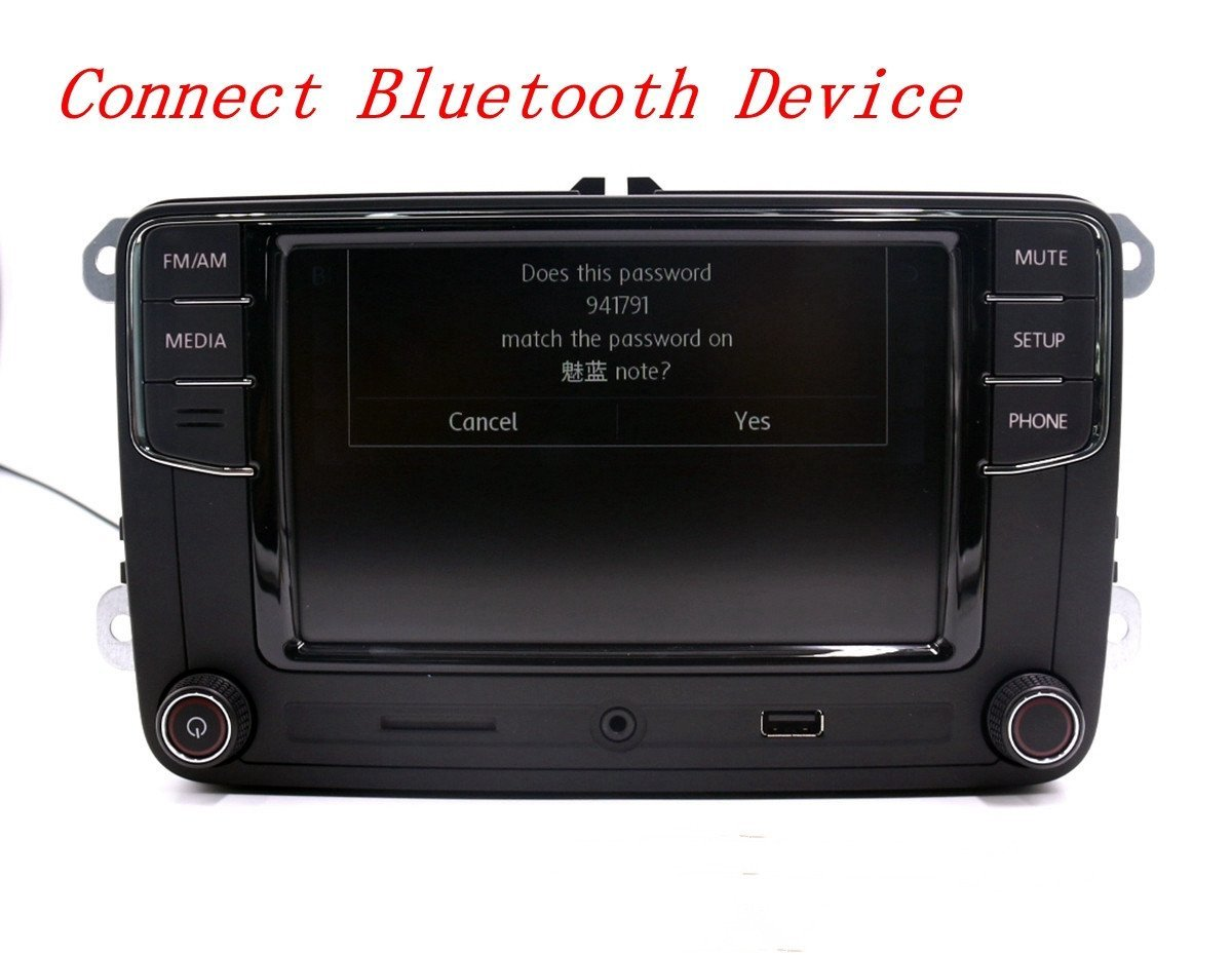 6 5 autoradio vw rcd330g usb rvc aux bluetooth. Black Bedroom Furniture Sets. Home Design Ideas