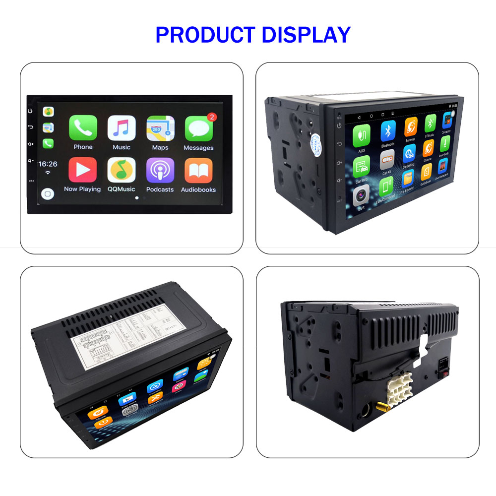 7 2 din android 7 1 autoradio carplay touch usb bt wifi. Black Bedroom Furniture Sets. Home Design Ideas