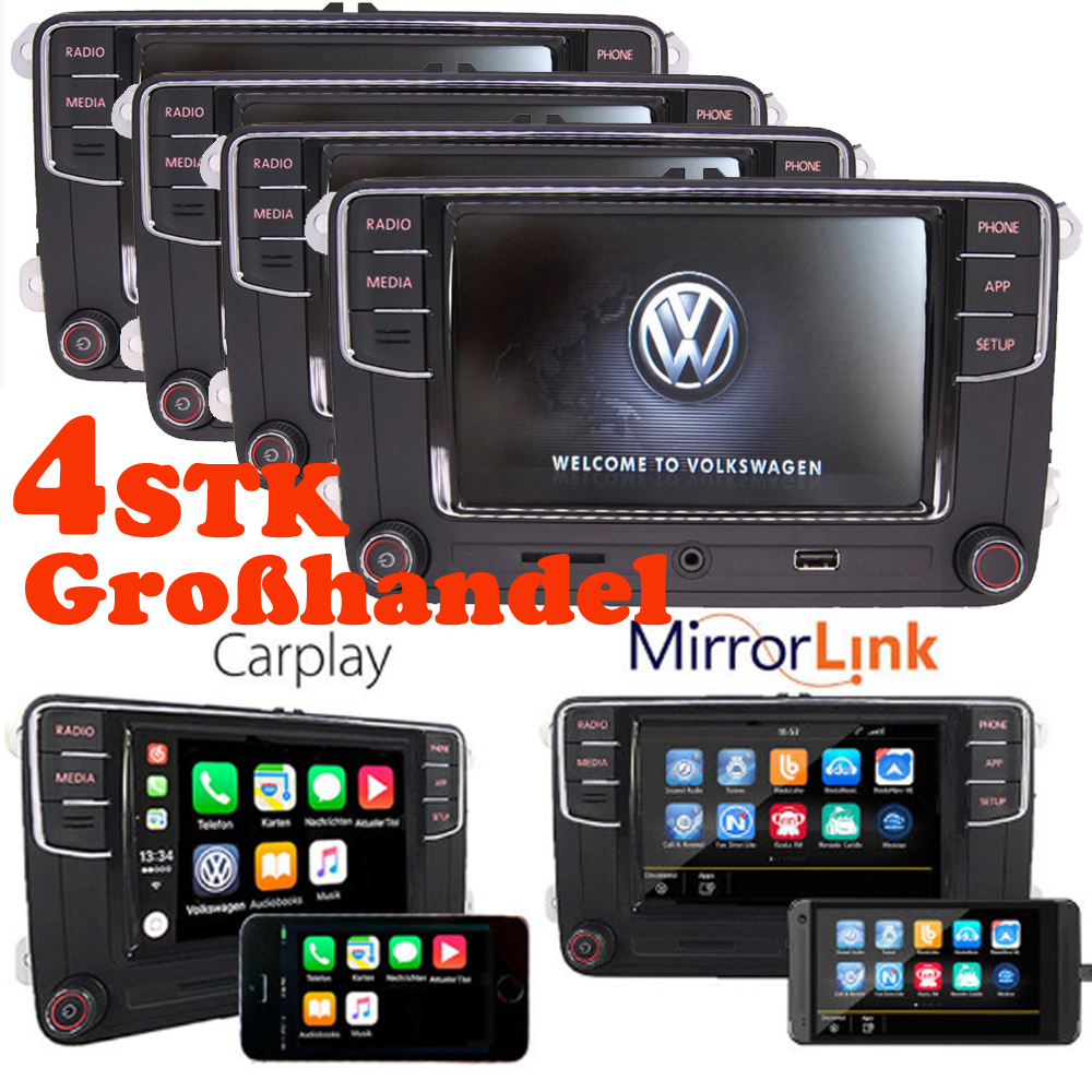 4stk gro handel vw autoradio rcd330 carplay mirrorlink bt. Black Bedroom Furniture Sets. Home Design Ideas
