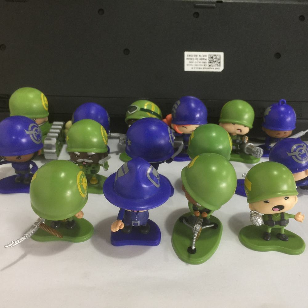 random 5Pcs Little Green Men Starter MarksMen Squad Series 1 Soldier Figure MGA